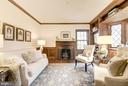 Charming Library w/ wood burning Fireplace - 4960 HILLBROOK LN NW, WASHINGTON