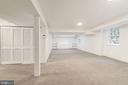 Large Lower Level Recreation Room - 4960 HILLBROOK LN NW, WASHINGTON