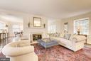 Wonderfully, large Living Room w/ wood burning fp - 4960 HILLBROOK LN NW, WASHINGTON