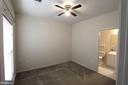 Second Bedroom with ceiling fan and full bath - 16 TURTLE CREEK WAY, FREDERICKSBURG