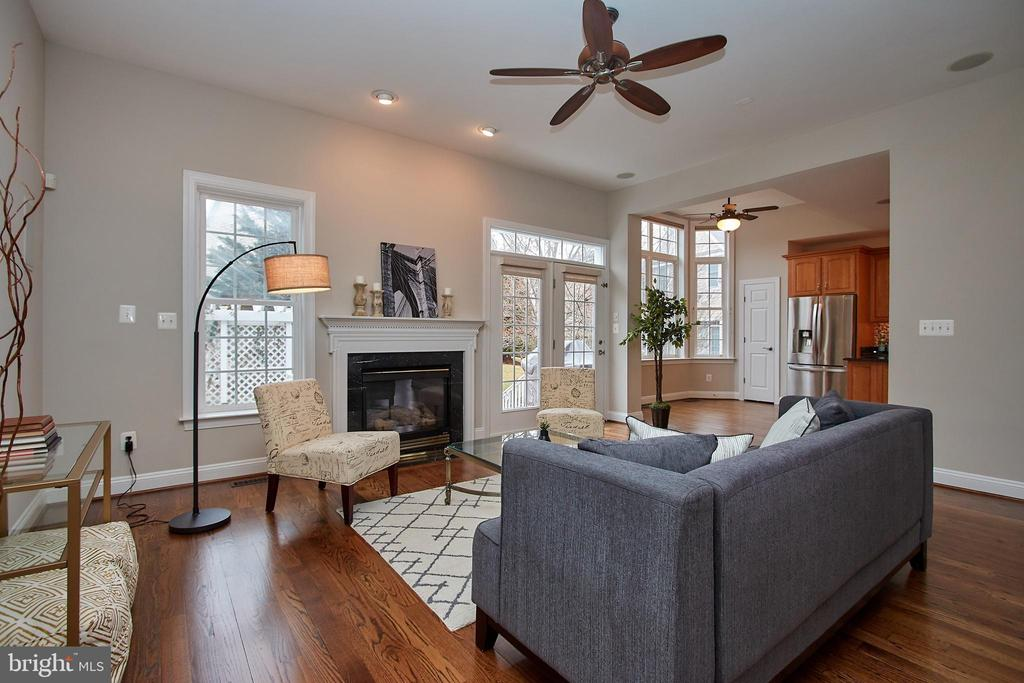 Family Room - Opens to Deck - 7616 CENTER ST, FALLS CHURCH