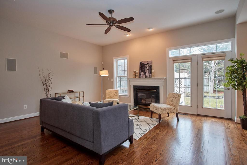 Family Room w/Fireplace off of Kitchen - 7616 CENTER ST, FALLS CHURCH