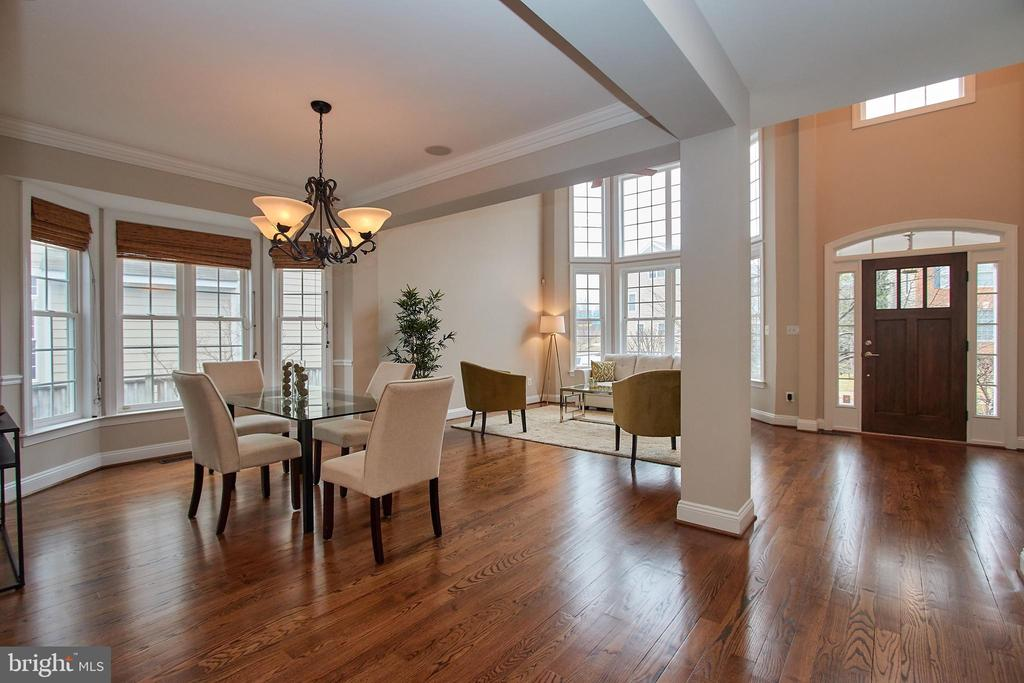 Dining Room opens to Living Room - 7616 CENTER ST, FALLS CHURCH