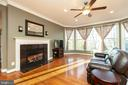 Family Room - Gas Fireplace - 43341 CEDAR POND PL, CHANTILLY