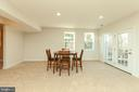 Rec Room with 6 Large Windows - French Door - 43341 CEDAR POND PL, CHANTILLY