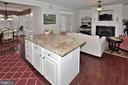 Plenty of space for entertaining in kitchen - 2524 BRENTON POINT DRIVE, RESTON