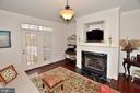 Family room with door to private deck - 2524 BRENTON POINT DRIVE, RESTON