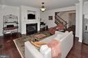Family room with Gas fireplace - 2524 BRENTON POINT DRIVE, RESTON