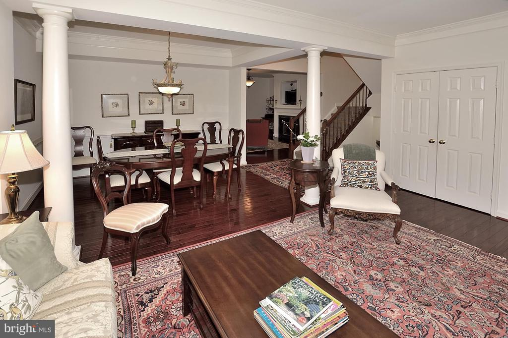 Living Room looking into dining room - 2524 BRENTON POINT DRIVE, RESTON