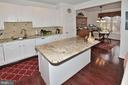 Gorgeous kitchen with large island with granite - 2524 BRENTON POINT DRIVE, RESTON