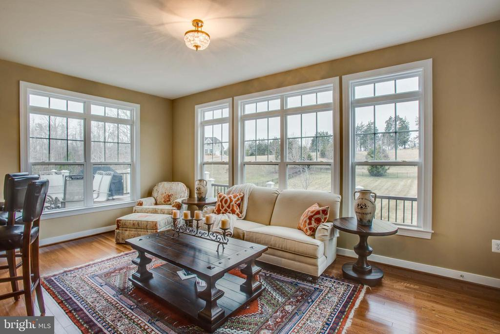 Sunroom overlooks picturesque  backyard - 90 LUPINE DR, STAFFORD