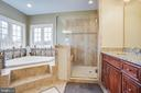 Lavish garden tub and over-sized shower - 90 LUPINE DR, STAFFORD