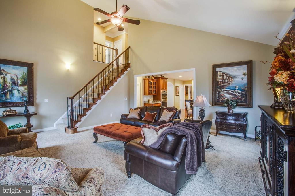 Second staircase located in family room - 90 LUPINE DR, STAFFORD