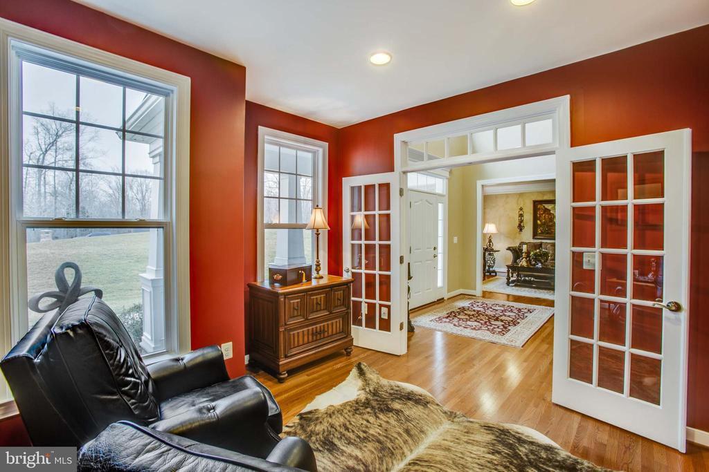Open and bright study with glass french doors - 90 LUPINE DR, STAFFORD