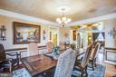 Large dining room with crown and chair moldings - 90 LUPINE DR, STAFFORD