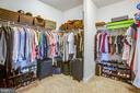 Spacious master closet - 90 LUPINE DR, STAFFORD