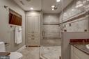 Master bath shower with 6 water sprays - 1200 CRYSTAL DR #1712, ARLINGTON