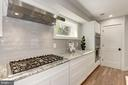 6 Burner Viking Cooktop with Exhaust Hood - 10526 HUNTERS VALLEY RD, VIENNA