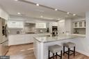 Custom Kitchen with Bar Style Island - 10526 HUNTERS VALLEY RD, VIENNA