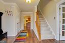 Entry into home - 3860 WERTZ DR, WOODBRIDGE