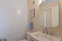 Main level half bath - 3860 WERTZ DR, WOODBRIDGE