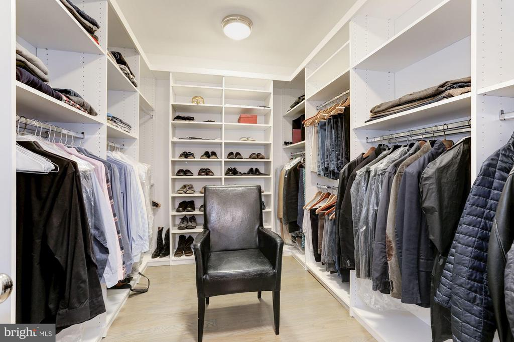 HIS MASTER CLOSET - 9165 OLD DOMINION DR, MCLEAN