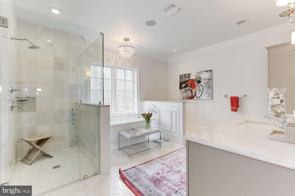 HER MASTER BATH - 9165 OLD DOMINION DR, MCLEAN
