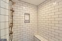 Luxury walk-in shower, photo of similar model - 407 PLUM ST SW, VIENNA