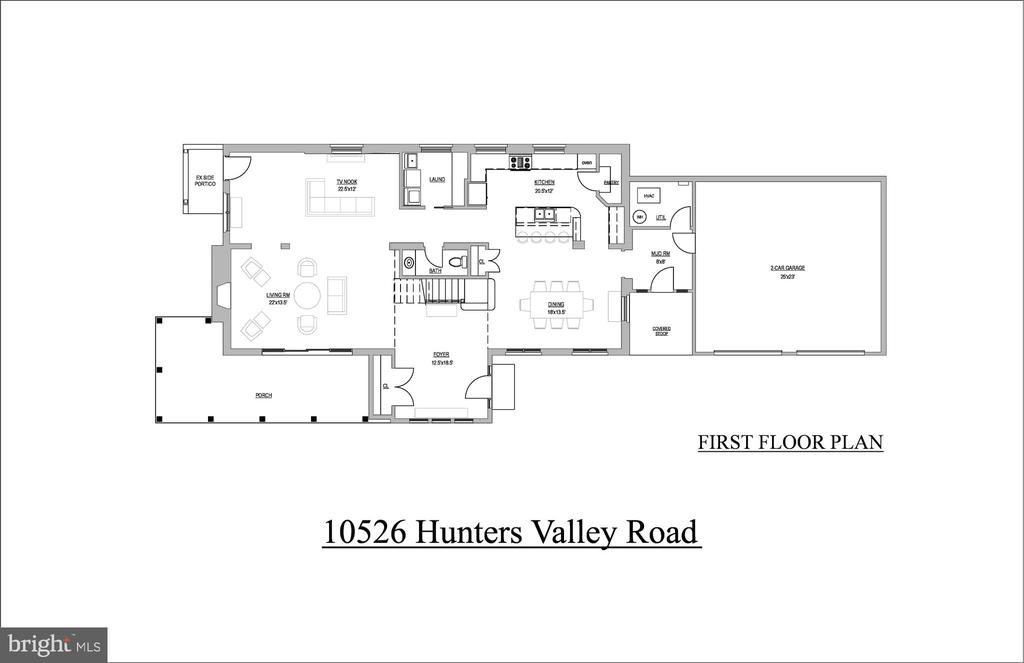 Main Level Floorplan - 10526 HUNTERS VALLEY RD, VIENNA