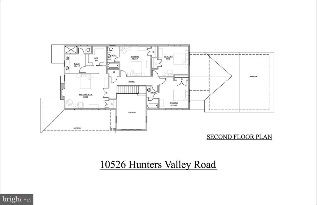 Second Level Floorplan - 10526 HUNTERS VALLEY RD, VIENNA