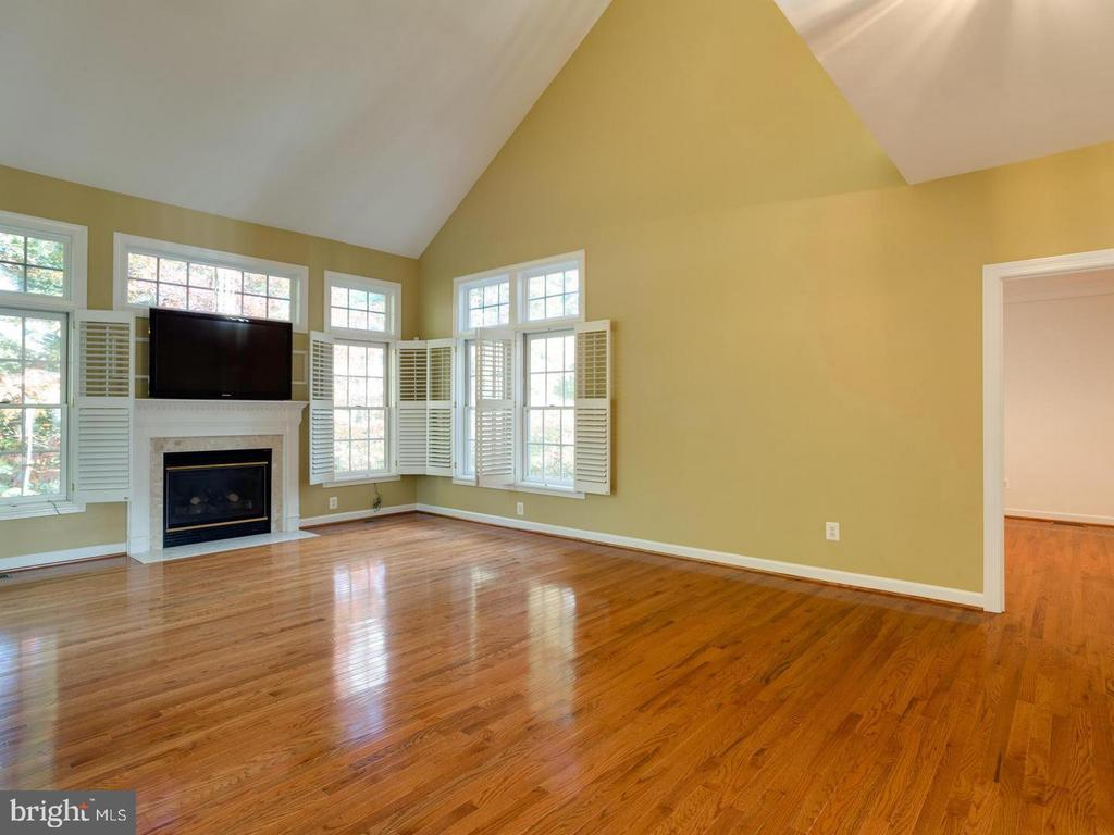 Family Room with Cathedral Ceilings - 4522 FAIRWAY DOWNS CT, ALEXANDRIA