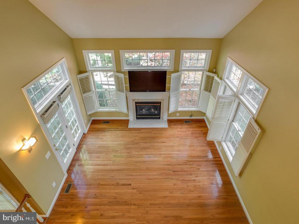 View from Upstairs to Family Room - 4522 FAIRWAY DOWNS CT, ALEXANDRIA