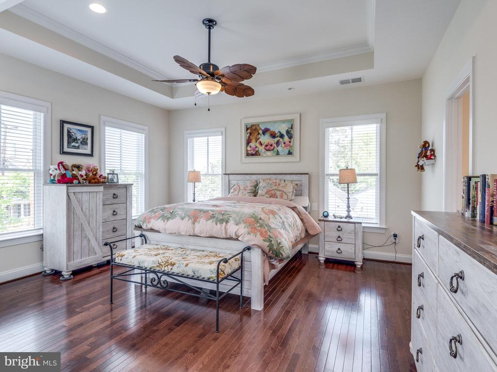Master bedroom has tray ceiling and windows galore - 624 SPRING ST, HERNDON