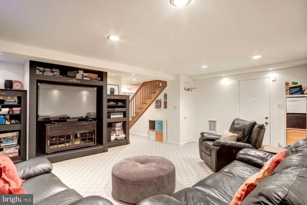 Lower Level Family Room - 1373 LOCUST RD NW, WASHINGTON