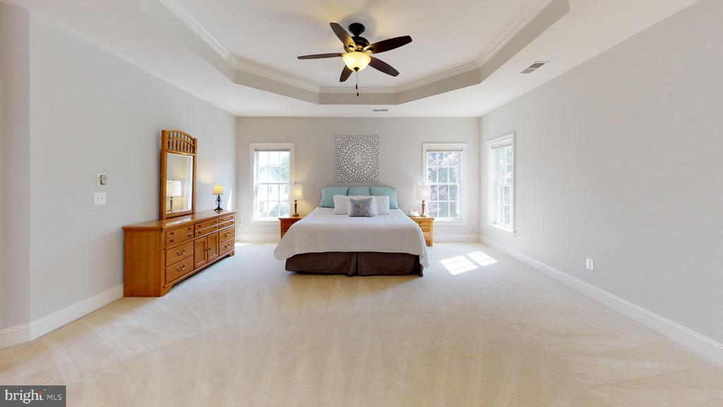 Oversized master suite with tray ceiling - 18733 GROVE CHURCH CT, LEESBURG