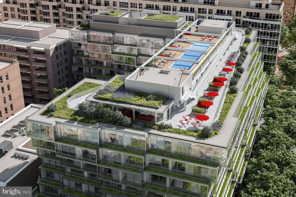 Green Roof and Outdoor Amenity Spaces - 1111 24TH ST NW #PH105, WASHINGTON