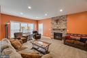 Family room with stone fireplace - 12 DINAS WAY, STAFFORD