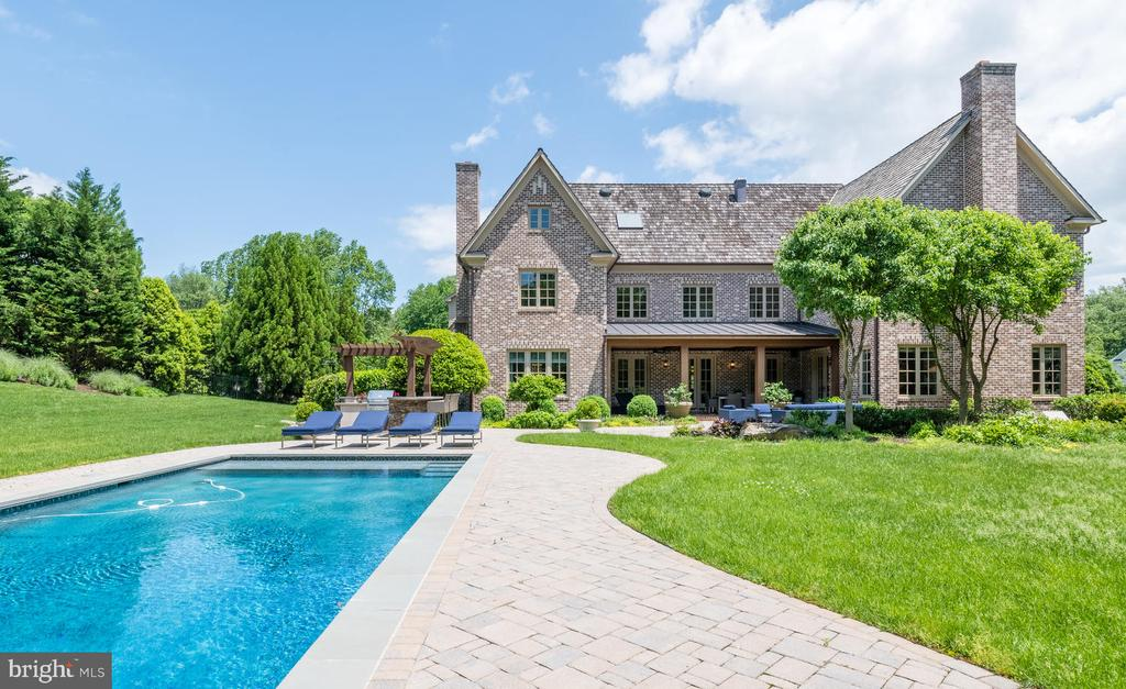 Rear Elevation and Pool - 8104 SPRING HILL FARM DR, MCLEAN
