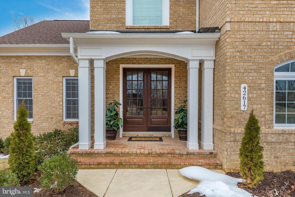 Wide double doors with Columns outside porch! - 42617 NICKELINE PL, CHANTILLY