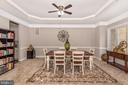 Formal Dining room w/tray ceiling crown mouldings! - 42617 NICKELINE PL, CHANTILLY