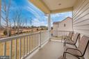 Balcony off Master BR overlooks wooded backyard! - 42617 NICKELINE PL, CHANTILLY