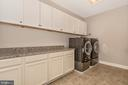 Upper level Laundry room with closet & Cabinets! - 42617 NICKELINE PL, CHANTILLY
