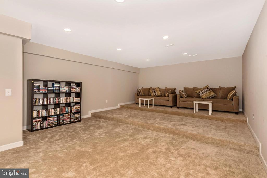 Media room with tired seating and wired hookups! - 42617 NICKELINE PL, CHANTILLY