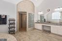 Master Bath fit for a king! 2 people tiled shower! - 42617 NICKELINE PL, CHANTILLY