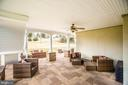 Covered patio with fans (20X20) - 90 LUPINE DR, STAFFORD