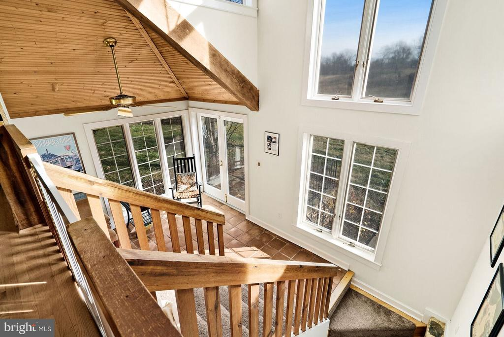 view of sun room from main floor - 37354 JOHN MOSBY HWY, MIDDLEBURG