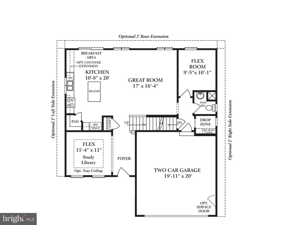 Main level to include 2ft kitchen extension - 2335 SWIFTWATER DR, HANOVER