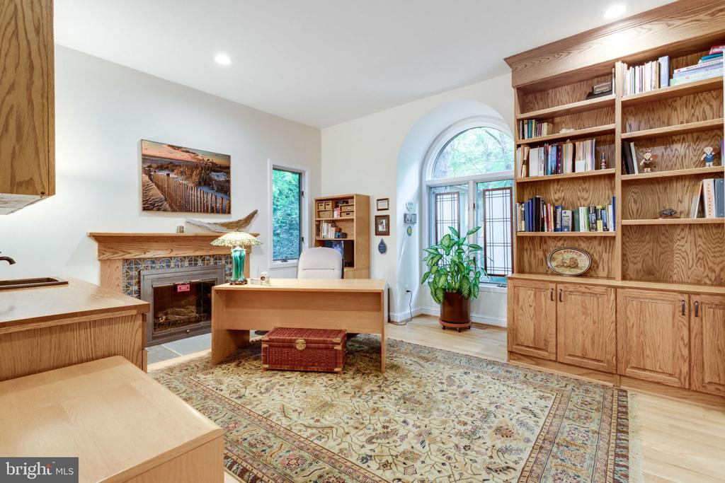 Library w/FP and Built-ins - 11298 SPYGLASS COVE LANE, RESTON