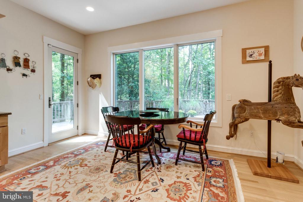Kitchen Table Space w/French Doors to Deck - 11298 SPYGLASS COVE LANE, RESTON