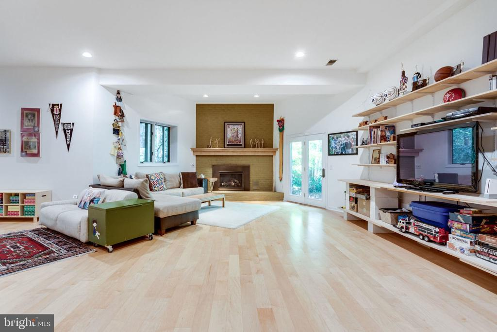 Lower Level Rec Room w/FP  with 11' Ceilings - 11298 SPYGLASS COVE LANE, RESTON